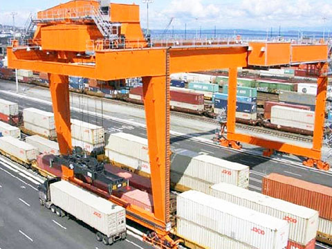 rail mounted gantry crane(rmg crane) used in ports for sale