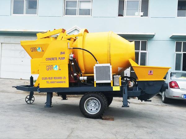 JBS 40 mini concrete mixer with pump