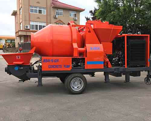 Concrete pump with mixer for sale in Aimix